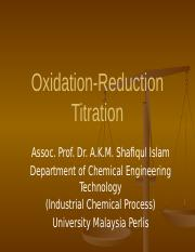 Lecture 2 - RedOx Titration.pptx