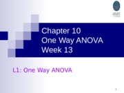 Chapter 10 One Way
