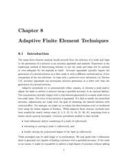 Adaptive Finite Element Techniques