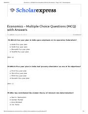 Economics – Multiple Choice Questions (MCQ) with Answers - Page 7 of 8 - Scholarexpress.pdf