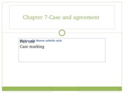 Ch 7 case and agreement