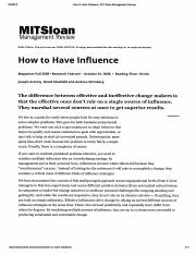 How to Have Influence (Joseph Grenny, 2008).pdf