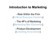 Intro of marketing