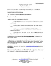 Art 1040 On-Line DOC 6 Proposal SUMMER 2013