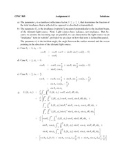 CPSC 505 Winter 2013 Assignment 4 Solutions
