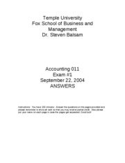 2004 Fall Accounting_011_exam_1___Fall_2004_Answers