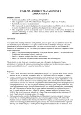 CIVIL 703 Project management assignment 1