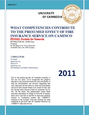 FDN502_Assignment_2_What Competencies contribute to the presumed effect of Fire Insurance Service on