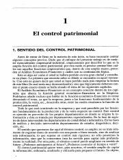 Capitulo 1 Control Patrimonial