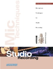 Microphone Techniques for Music - Studio Recording