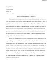 W Turkey Slaughter Research Paper