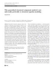 Why generalized structured component analysis is not universally preferable to structural equation m