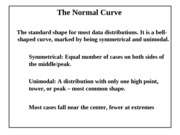 Topic 06 (part 1) - normal curve and Z scores