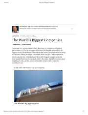Forbes - The World's Biggest Companies