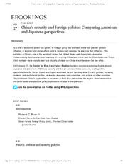 0227 China's security and foreign policies_ Comparing American and Japanese perspectives _ Brookings