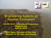 Engineering Aspects of Reserve Estimation, April 2014 (1)