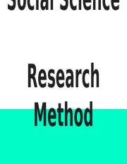 Social Science  Research Method_Blanks.pptx