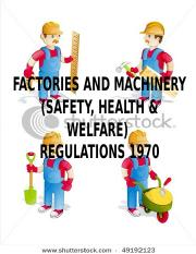 FMA SAFETY HEALTH WELFARE REGULATION