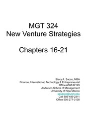 Finance, International, Technology & Entrepreneurial Chapters 16-21-2