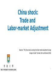 ECON6032 Lecture 4(2) China shock on US labor market (moodle version)