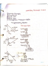 trigonometric review