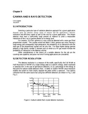 Gamma and X rays detection