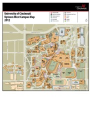 university of cincinnati west campus map Lindner Center Woodside Garage Langsam Library Campus Green Garage
