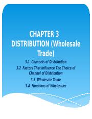 Chapter 3 Distribution