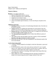 Exam 3 Study Guide- THE RIGHT ONE