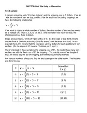 MAT 050 Unit 3 Activity - Alternative - Answers