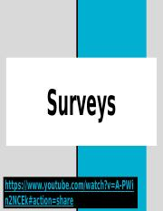 Surveys - Group Presentation.pptx