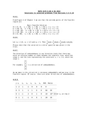 MATH 3170 SU 2013 Sect 4.4-4.10 Solutions