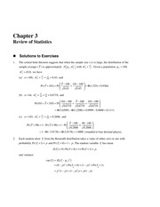 Solutions to Chapter 3 Textbook Exercises