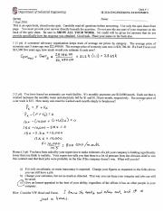 IE 2324 Quiz 1 Fall 2016 Answers