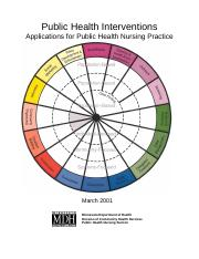 Public Health Interventions - Applications for Public Health Nursing Practice