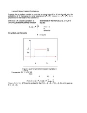 Lecture 6 Notes Random Distributions