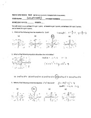MATH 1090 Winter 2012 Optional Exam Solutions