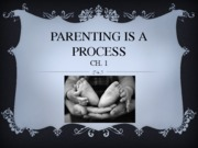 Ch 1 Parenting is a Process