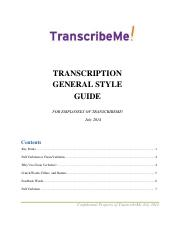T104_TranscribeMe General Style Guide July 2014