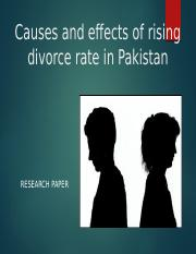 Divorce Rate In Pakistan.pptx