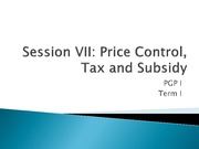 Price control tax and subsidies