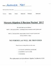 2017 REVIEW PACKET ANSWER KEY GOOD