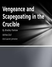 8 Vengeance and Scapegoating in the Crucible