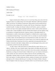 Homelessness essays