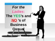 Ladies Do's and Don't's of Business Casual