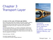 Chapter 3 - Transport Layer