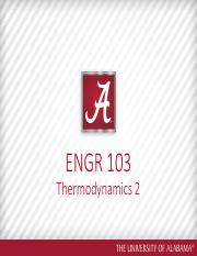 ENGR 103 Lecture  12 Thermo 2 Rick
