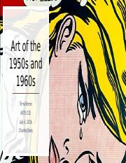 Art of the 1950s and 1960s
