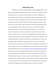 Hugo Chavez Essay-Revised