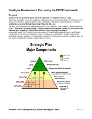 Example of using PRICE model for Employee Development Plan (1)